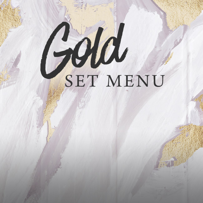 Gold set menu at The Prince of Wales