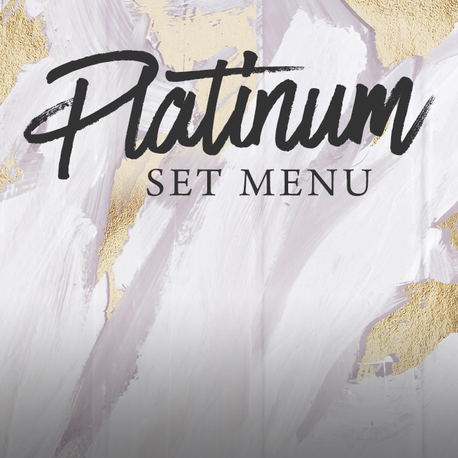 Platinum set menu at The Prince of Wales