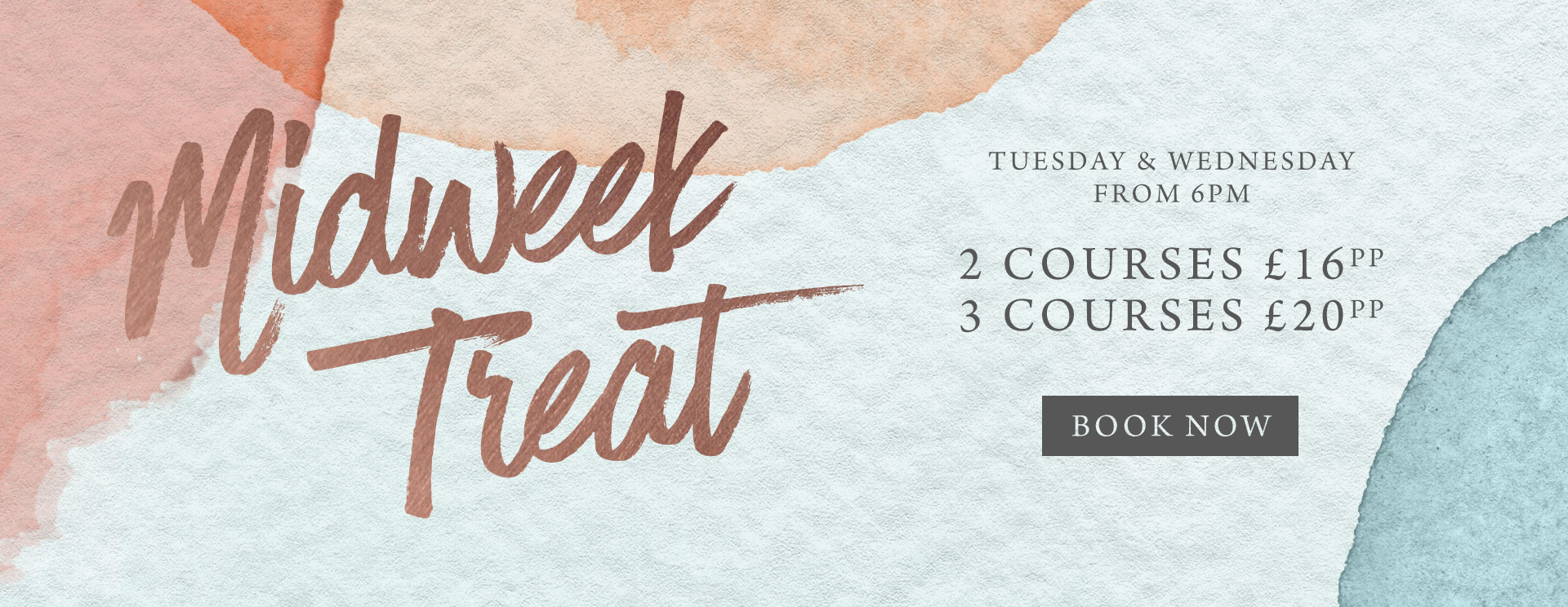 Midweek treat at The Prince of Wales - Book now